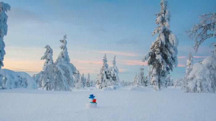 Mijn sneeuwpop-badeendje is ook van de partij! :)