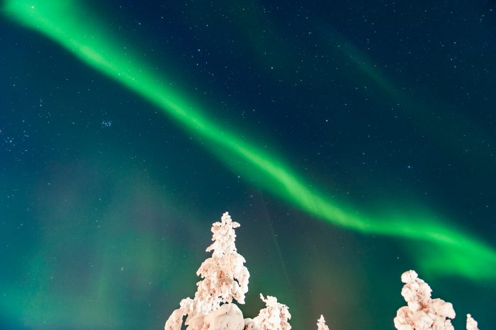 Het noorderlicht in Saariselka