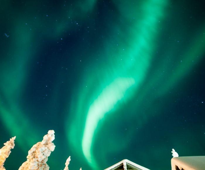 Het noorderlicht: groen dansend boven je hoofd