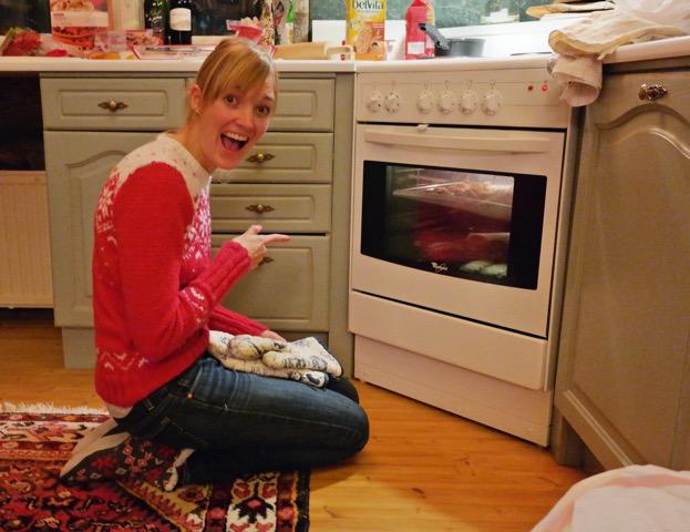 Ik en een stel lekkere hapjes in de oven! [Foto: door Yim Mee Pang]