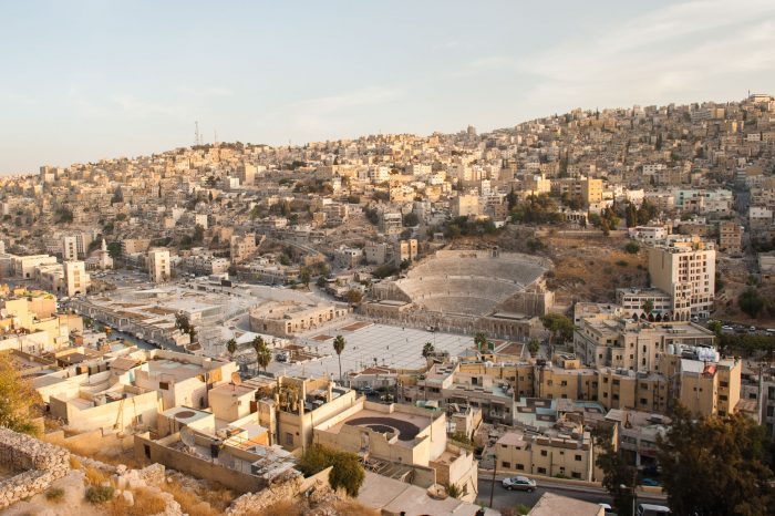 Uitzicht over Amman vanaf de citadel