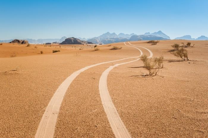 Wadi Rum woestijn in Jordanie