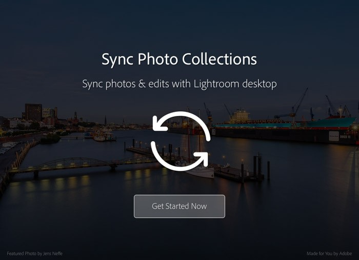 Synchroniseer collecties om de foto's in Lightroom Mobile te zetten