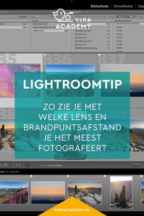 Lightroomtip: zo zoek je in de bibliotheek op met welke lenzen je het meest fotografeert