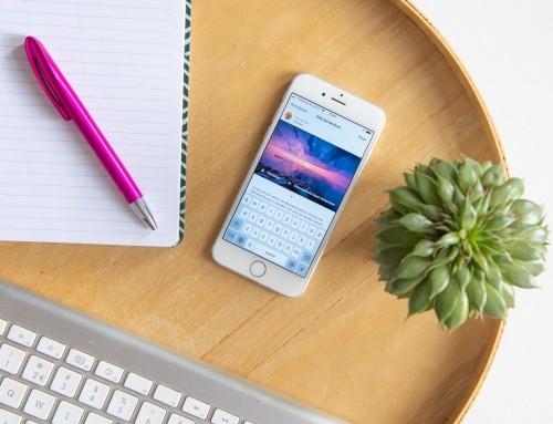 5x sneller de tekst typen voor een Instagram-foto, story of DM
