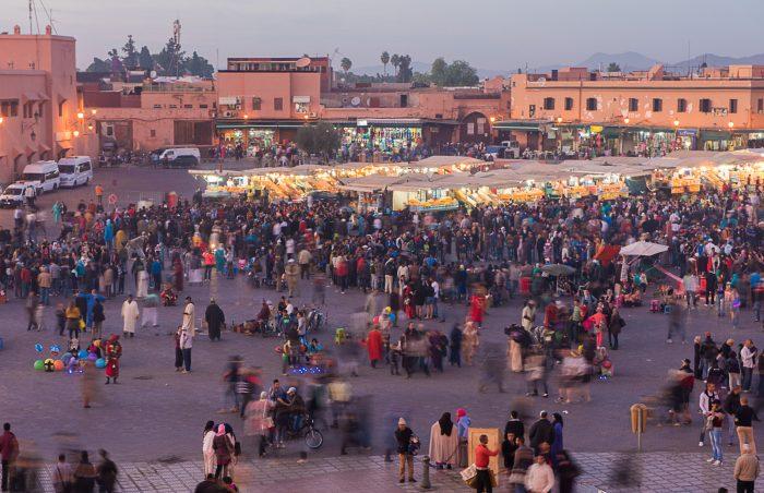 Marrakech bewegingsonscherpte