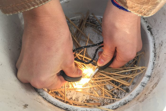 Oefenen met vuur maken. [mislukt]