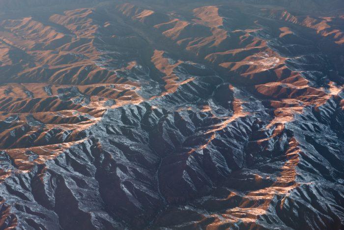 Nevel verwijderen: vanuit het vliegtuig fotograferen