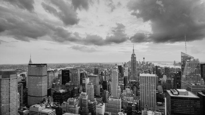 Skyline van New York, gefotografeerd vanaf de top van Rockefeller Center
