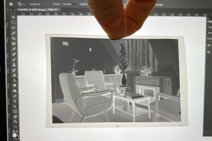 Een blanco canvas van de laptop als witte achtergrond.