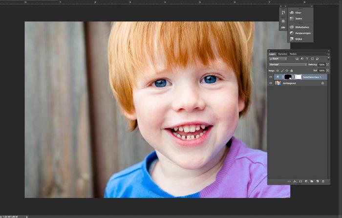 Photoshop Selectieve Kleur aanpassing