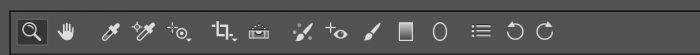 RAW-editor in Photshop. Het derde icoontje van link (1e pipetje) is voor de witbalans.