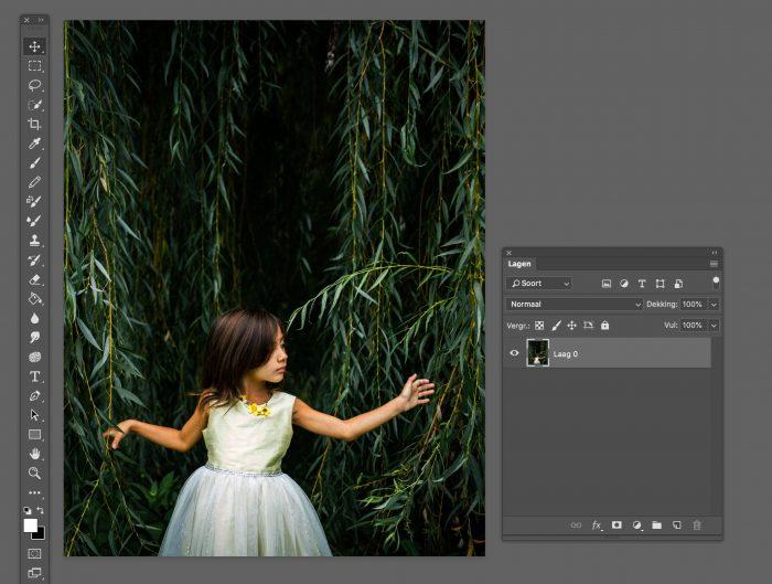 Vrijstaand maken van de foto in Photoshop