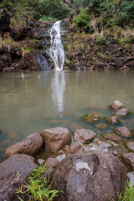 Waterval fotograferen zonder polarisatiefilter