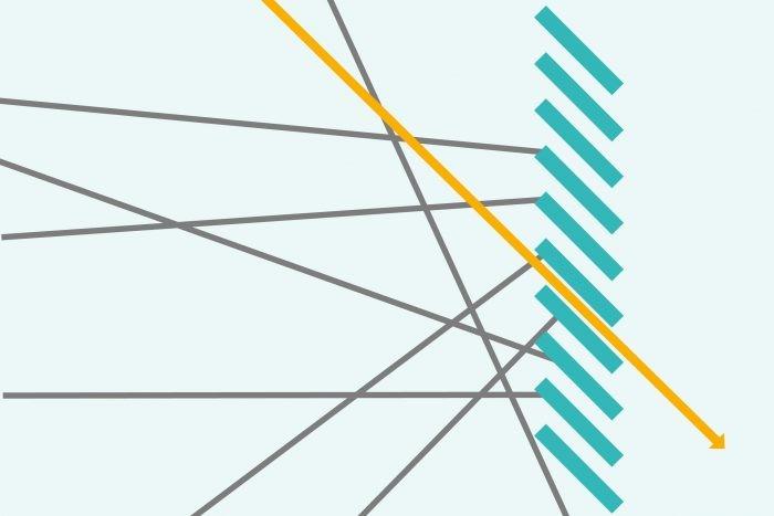 Voorbeeld hoe een polarisatiefilter werkt