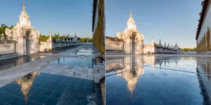 Reflectie fotograferen: dicht bij het oppervlak