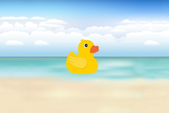 Illustratie van badeendje