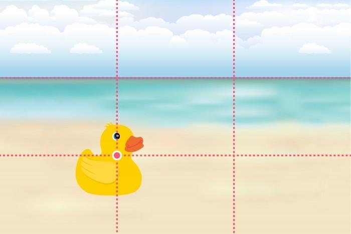Belangrijke lijnen in beeld, zoals de horizon, kun je ook langs de lijnen van derden plaats. Hier is de horizon van het midden is omhoog geplaatst. Al een heel ander beeld dan de beginsituatie toch?