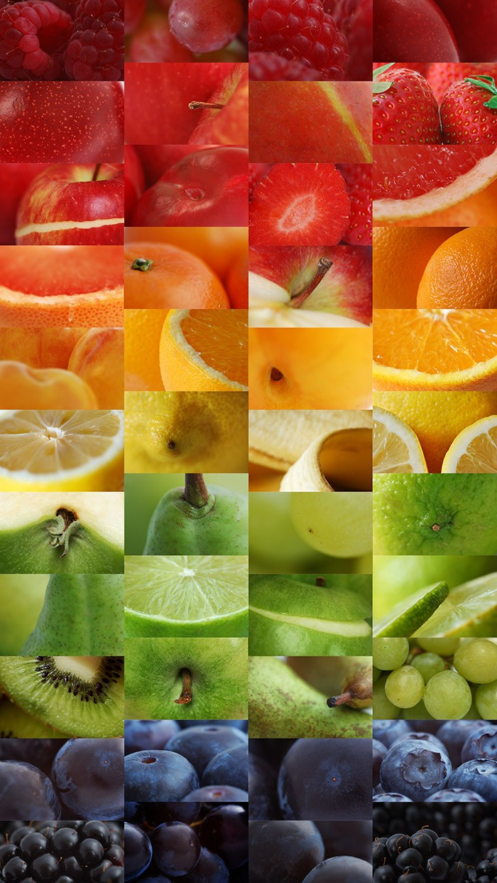 Rainbow of fruits