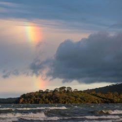 Regenboog boven Isla de Ometepe, Nicaragua