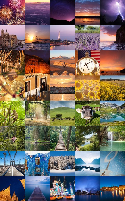 Collage van vakantiefoto's