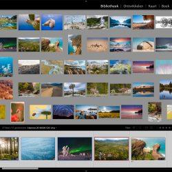 Een grove selectie van mijn foto's in Lightroom