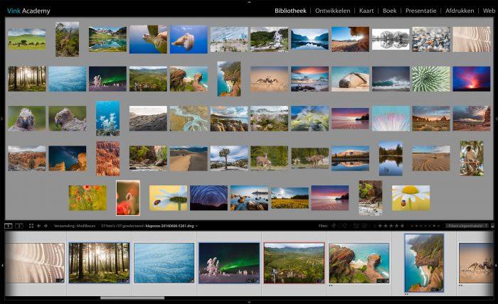Ik maakte eerste deze grove selectie van mijn foto's in Lightroom, voordat ik een kleinere selectie maakte voor mijn portfolio.