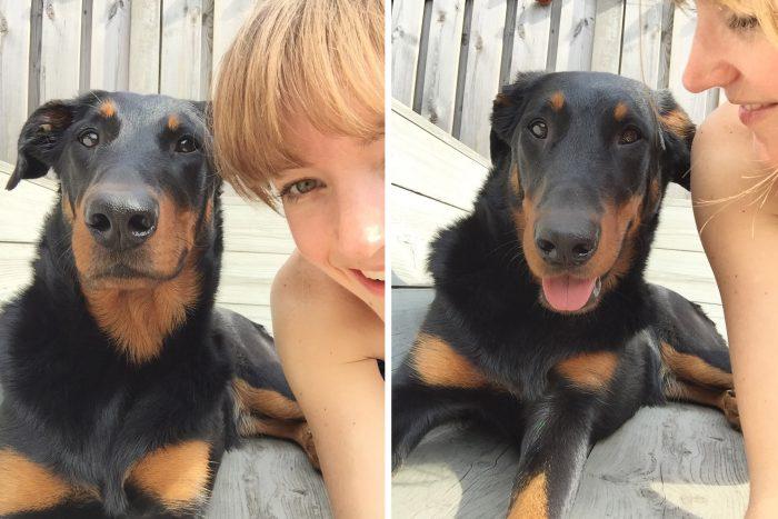 iPhone selfie met m'n hond