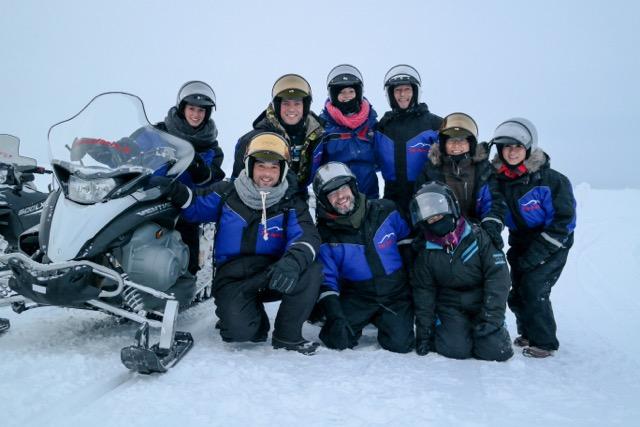Sneeuwscooter tocht