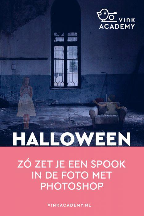 Spookfoto maken (spook is een geest die half doorschijnend is) met Photoshop