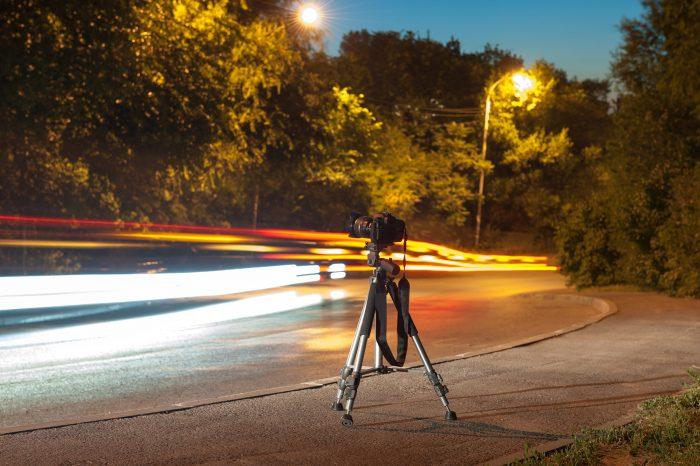 Bij avond- en nachtfotografie is een statief vaak onmisbaar.
