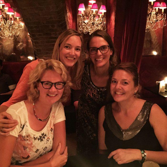 Van links naar rechts: Sofie, ik, Kim, Liseth!