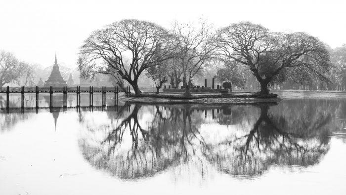 De reflectie maakt de foto extra bijzonder