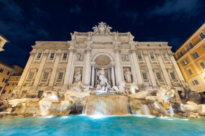 De trevifontein in Rome is in feite ook een beetje een waterval, dus bovenstaande tips zijn ook hier toepasbaar!