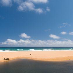 Strand van Kauai, Hawaï