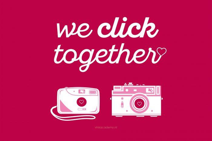 """Valentijnskaart: """"We Click Together"""""""