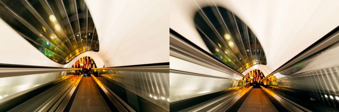 Variatie in moment. Links: Raam buiten het kader. Rechts: Raam nog (net) binnen het kader.