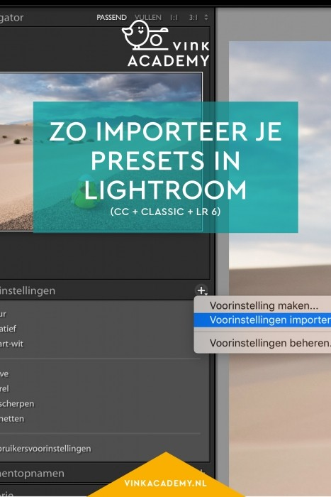 Voorinstellingen installeren in Lightroom