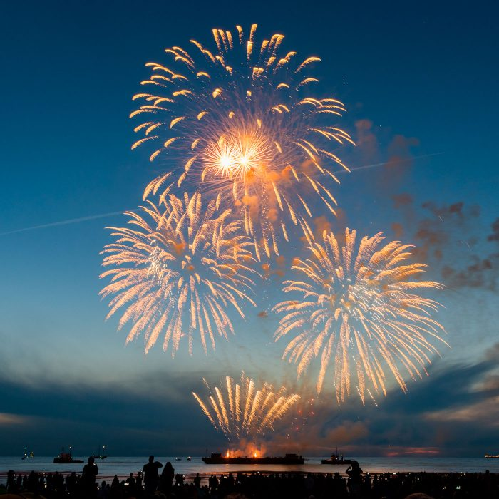 Vuurwerkfestival Scheveningen 2018. Het is er steeds drukker, maar wel gezellig druk hoor!