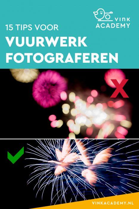Vuurwerk fotograferen; let op met scherpstellen.