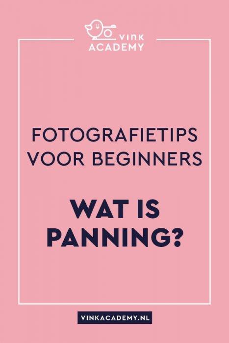 Panning bij fotografie