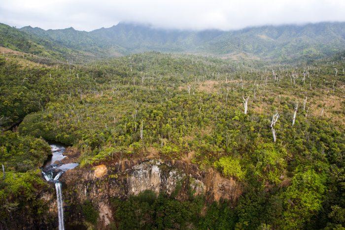 De waterval is hierbij onderdeel van de landschapsfoto