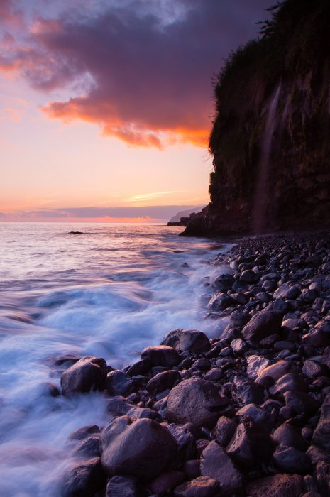 Waterval zonsondergang