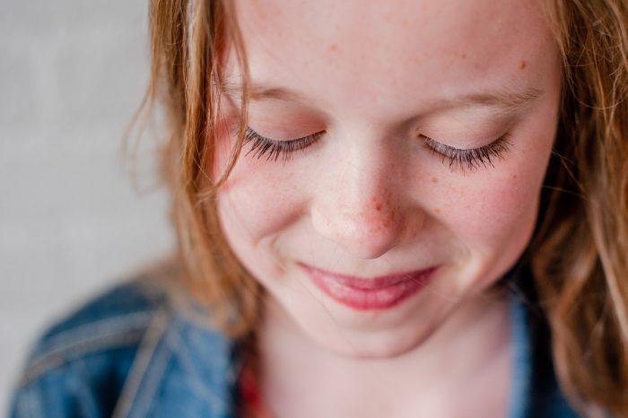 Voorbeeld van wimperfoto van meisje