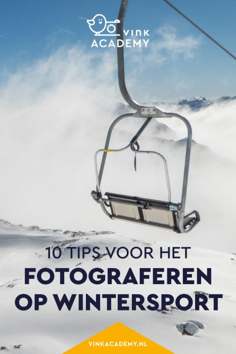 Wintersport in de bergen