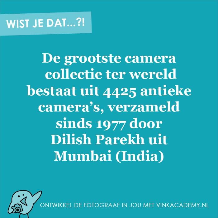De grootste camera collectie ter wereld