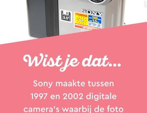 Digitale camera's met een floppy