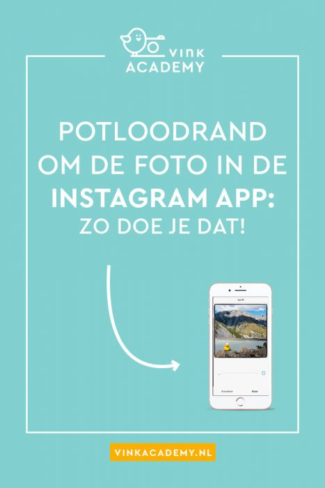 Potlood om Instagram foto's