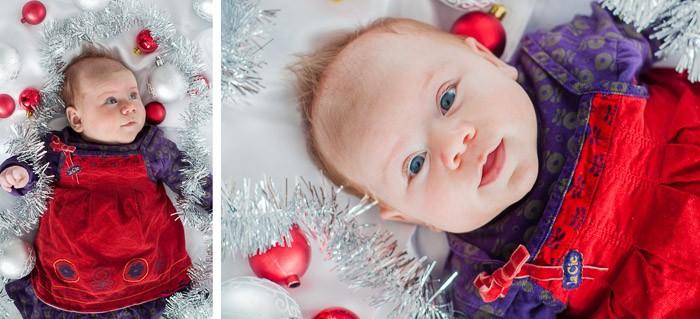 Foto's van kinderen op de foto voor kerst