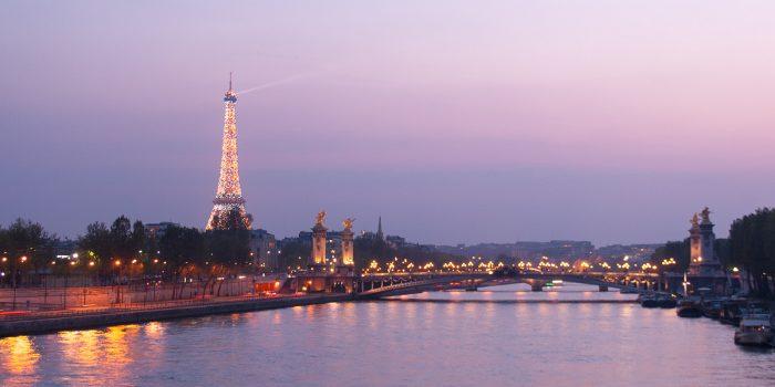 Zonsondergang in Parijs
